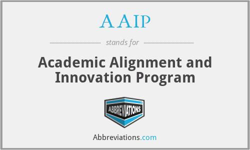 AAIP - Academic Alignment and Innovation Program