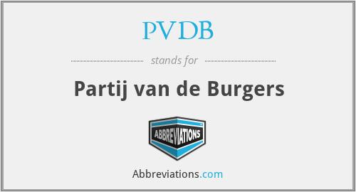PVDB - Partij van de Burgers