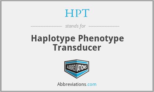 HPT - Haplotype Phenotype Transducer