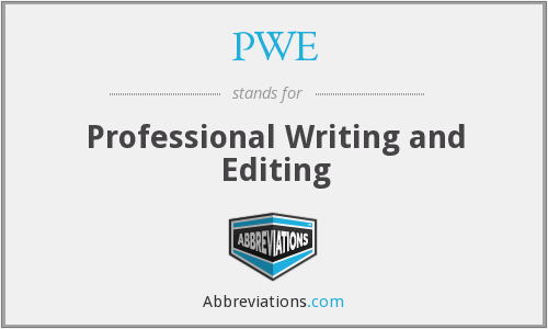 PWE - Professional Writing and Editing