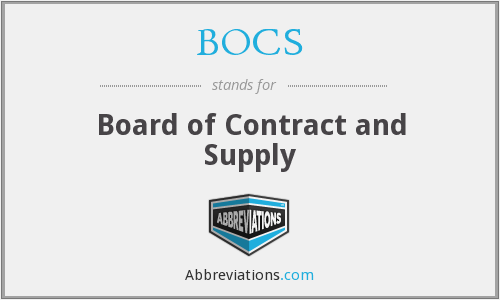 What does BOCS stand for?