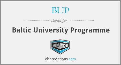 BUP - Baltic University Programme