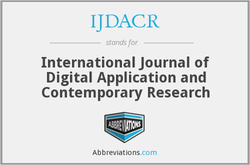 IJDACR - International Journal of Digital Application and Contemporary Research