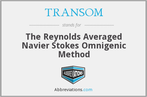 What does TRANSOM stand for?