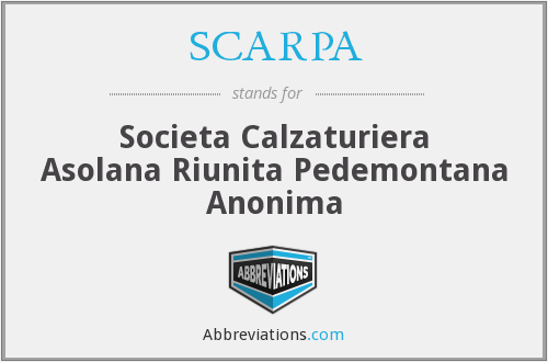 What does SCARPA stand for?