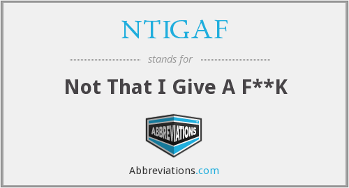 What does NTIGAF stand for?