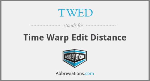 TWED - Time Warp Edit Distance