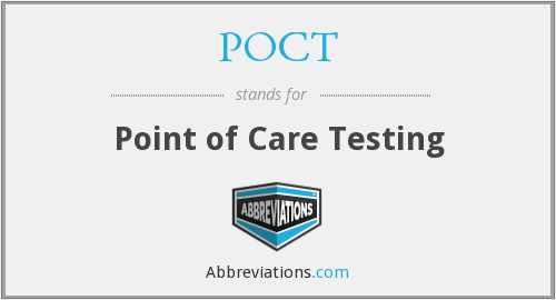 What does POCT stand for?