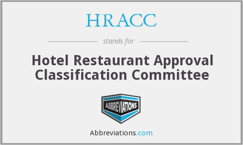 What does HRACC stand for?