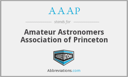 AAAP - Amateur Astronomers Association of Princeton