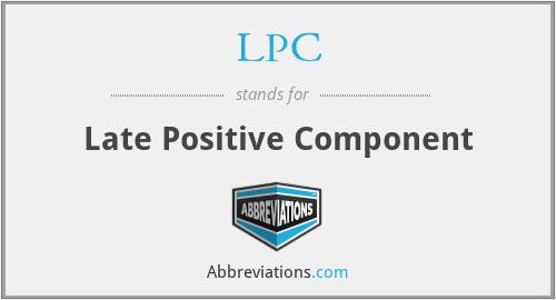 LPC - Late Positive Component