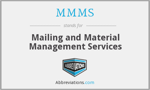 MMMS - Mailing and Material Management Services