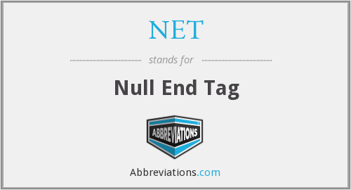 NET - Null End Tag