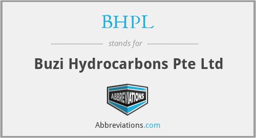 BHPL - Buzi Hydrocarbons Pte Ltd