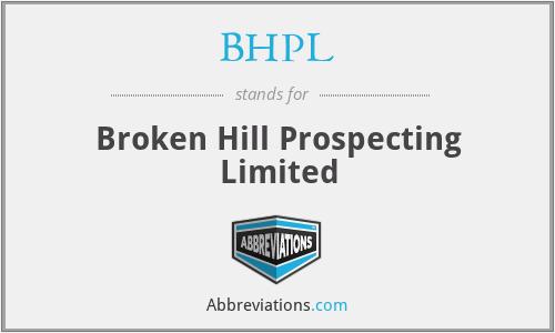 BHPL - Broken Hill Prospecting Limited