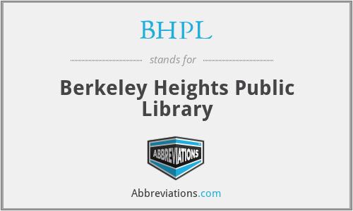BHPL - Berkeley Heights Public Library
