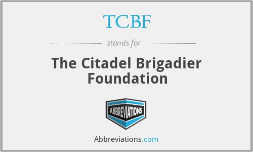 TCBF - The Citadel Brigadier Foundation