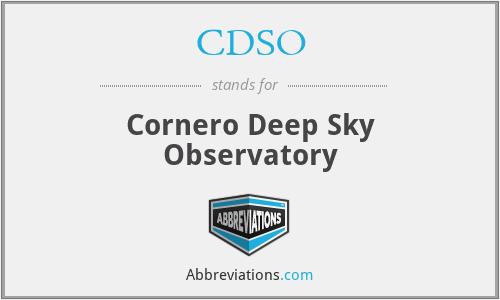 CDSO - Cornero Deep Sky Observatory
