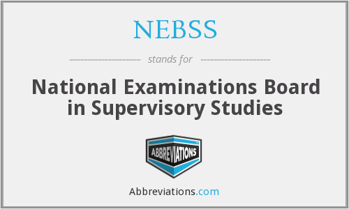 What does NEBSS stand for?