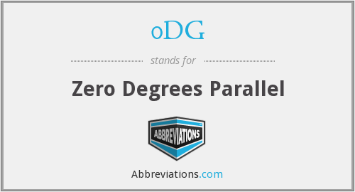 What does 0DG stand for?