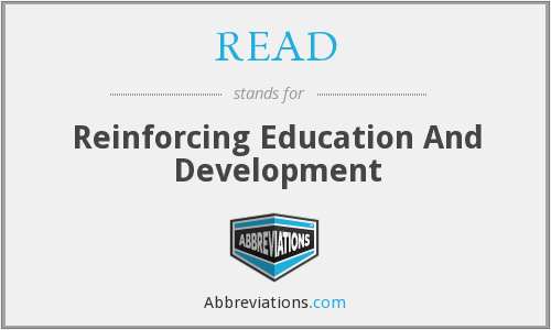 READ - Reinforcing Education And Development