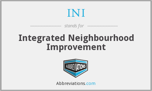 INI - Integrated Neighbourhood Improvement