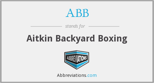 ABB - Aitkin Backyard Boxing