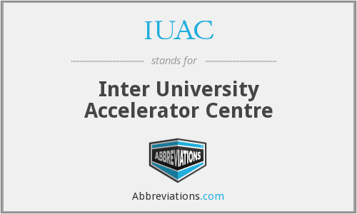 What does IUAC stand for?
