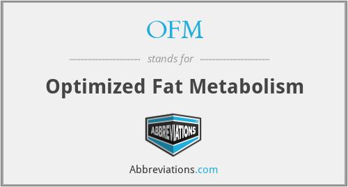 OFM - Optimized Fat Metabolism