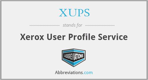 XUPS - Xerox User Profile Service
