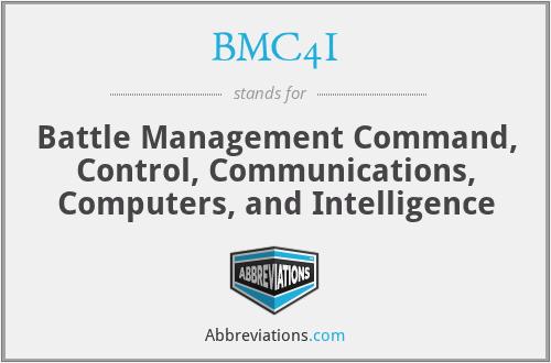 BMC4I - Battle Management Command, Control, Communications, Computers, and Intelligence