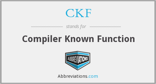 CKF - Compiler Known Function