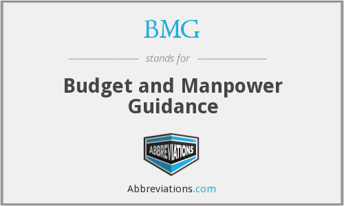 BMG - Budget and Manpower Guidance