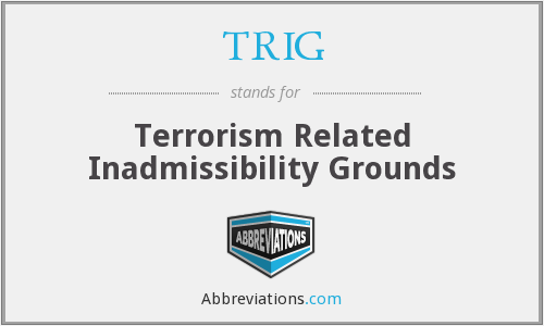 What does inadmissibility stand for?