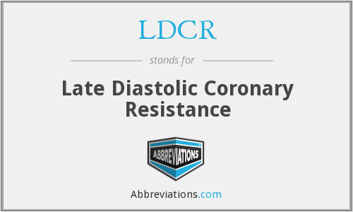 What does LDCR stand for?