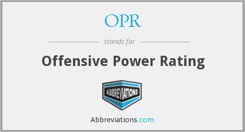 OPR - Offensive Power Rating