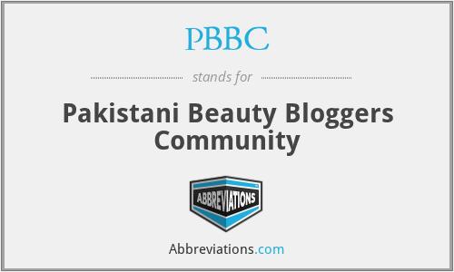 PBBC - Pakistani Beauty Bloggers Community