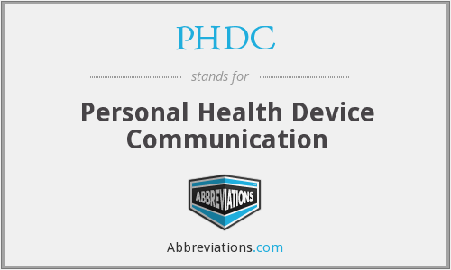 PHDC - Personal Health Device Communication