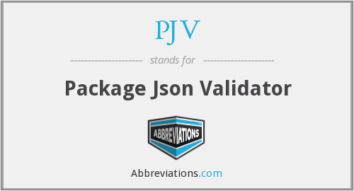 PJV - Package Json Validator