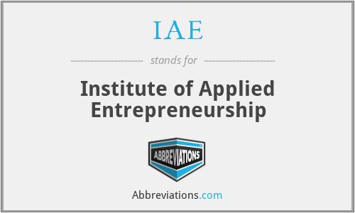 IAE - Institute of Applied Entrepreneurship