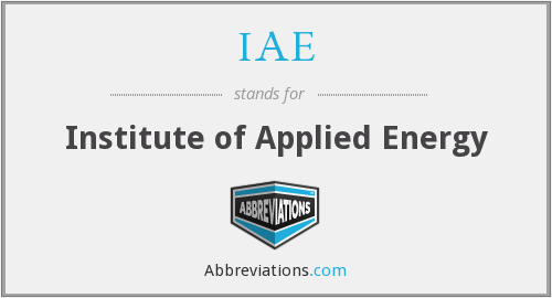 IAE - Institute of Applied Energy