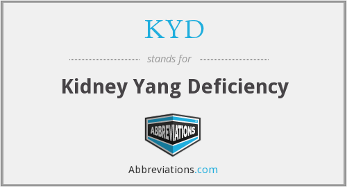 KYD - Kidney Yang Deficiency