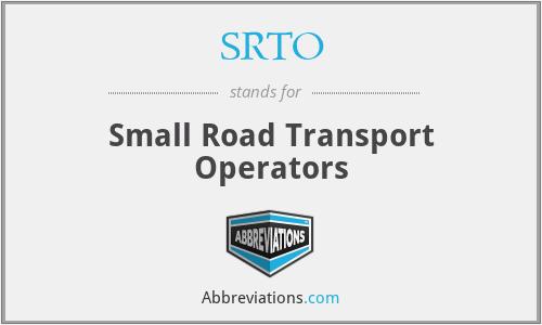 SRTO - Small Road Transport Operators