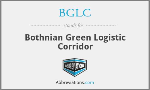 BGLC - Bothnian Green Logistic Corridor
