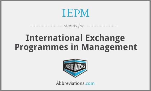 IEPM - International Exchange Programmes in Management