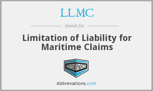 LLMC - Limitation of Liability for Maritime Claims