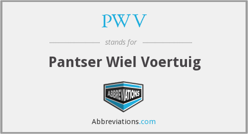 PWV - Pantser Wiel Voertuig