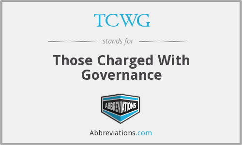 What does TCWG stand for?