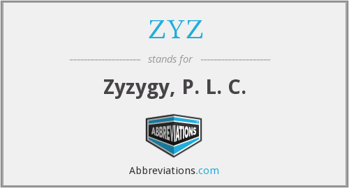 What does ZYZ stand for?