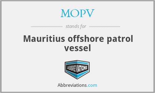 MOPV - Mauritius offshore patrol vessel